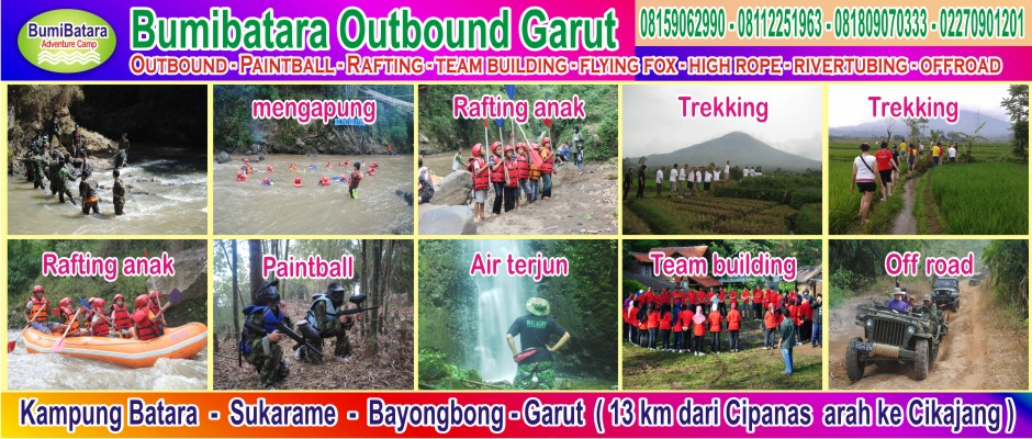 tempat outbound gathering arung jeram paintball di garut