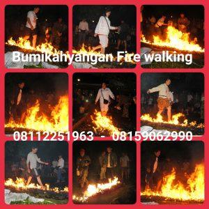 paket fire walking jalan diatas api di bumikahyangan bandung