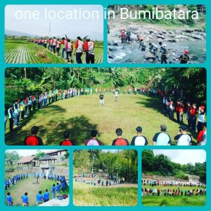 tempat area kegiatan outbound gathering rafting paintball di garut
