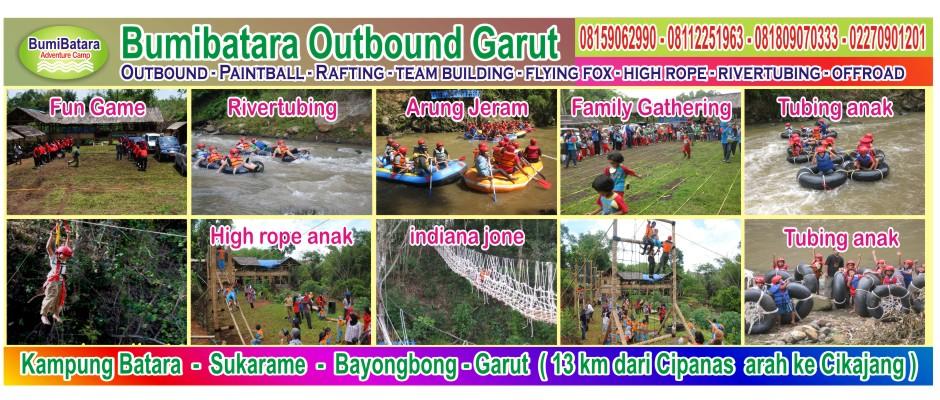 tempat wisata outbound gathering arung jeram anak di garut