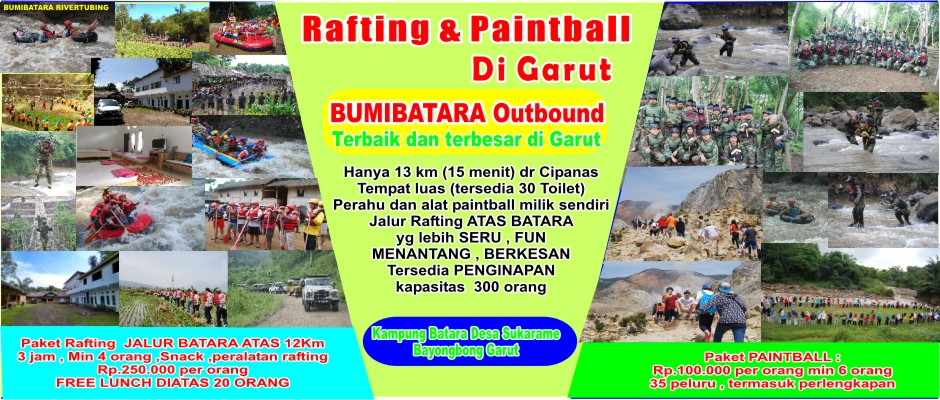 Lokasi Tempat Rafting Arung Jeram Outbound Outing Gathering